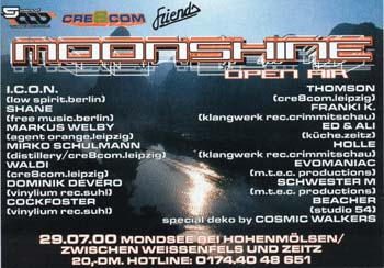 Flyer moonshine-open air