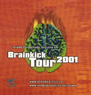Flyer brainkick tour 2001