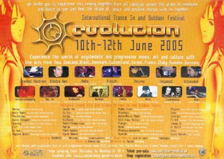 Flyer evolution festival