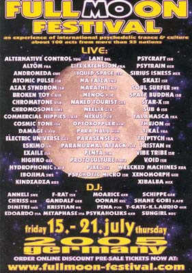 Flyer fullmoon festival