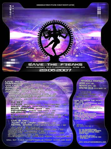Flyer save the freaks